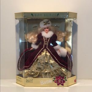 Happy holidays Barbie 1996 Mattel 15646